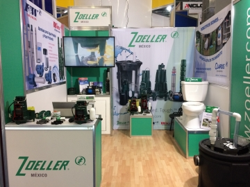 Zoeller Mexico tradshow booth set up